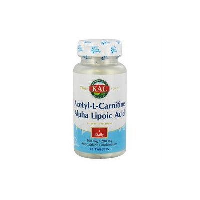 Kal - Acetyl-L-Carnitine & Alpha Lipoic Acid - 60 Tablets