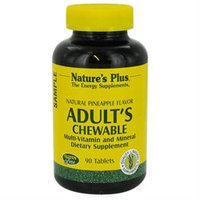 Nature's Plus Adult's Chewable Multi-Vitamin and Mineral Natural Pineapple - 90 Tablets