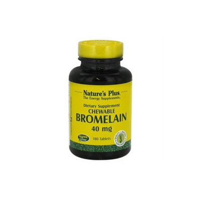 Nature's Plus Chewable Bromelain - 40 mg - 180 Tablets