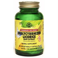 Solgar - Deglycyrrhized Licorice Root Extract - 60 Vegetarian Capsules