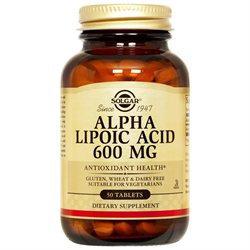 Solgar - Alpha Lipoic Acid 600 mg. - 50 Tablets