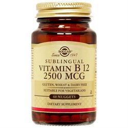 Solgar - Megasorb Vitamin B12 Sublingual 2500 mcg. - 60 Nuggets