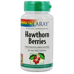 Solaray Hawthorn Berries - 525 mg - 100 Capsules