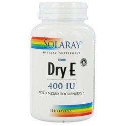 Solaray Dry Vitamin E - 400 IU - 100 Capsules
