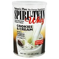 Spiru-Tein (Spirutein) Whey Cookies & Cream Nature's Plus 1.05 lb Powder