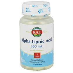 Kal - Alpha Lipoic Acid Time Release 300 mg. - 30 Tablets