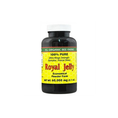 YS Royal Jelly/Honey Bee 100% Pure Freeze Dried R.Y 60000MG - 2 Ounces Powder - Bee Products