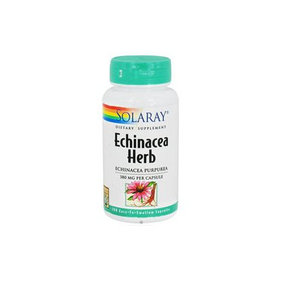 Solaray - Echinacea Herb Echinacea Purpurea 380 mg. - 100 Capsules