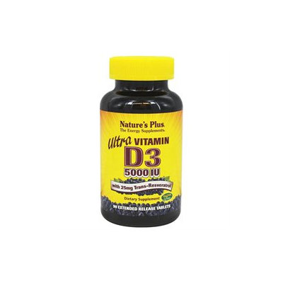Nature's Plus Ultra Vitamin D3 with Trans-Resveratrol - 90 Tablets