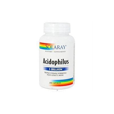 Solaray - Acidophilus Triple Strain Formula Plus Goat's Milk - 200 Capsules