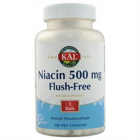 Kal Niacin Flush-Free - 500 mg - 120 Vegetarian Capsules