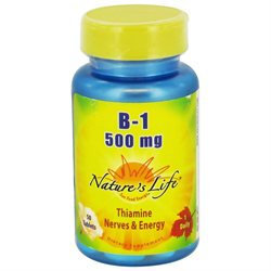 Nature's Life Vitamin B-1 - 500 mg - 50 Tablet