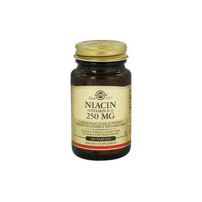 Solgar - Niacin Vitamin B3 250 mg. - 100 Tablets