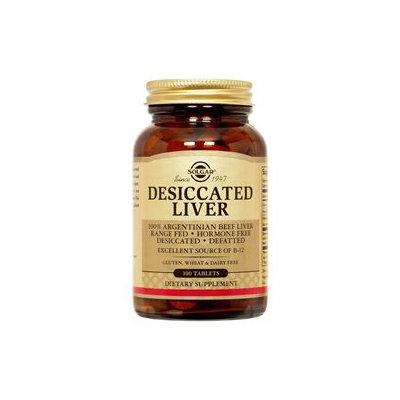 Solgar - Desiccated Liver - 100 Tablets