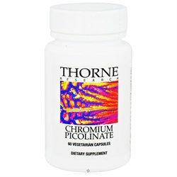 Thorne Research - Chromium Picolinate 500 mcg. - 60 Vegetarian Capsules