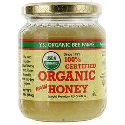 YS Royal Jelly/Honey Bee Organic Honey - 16 Ounces Gel - Trail Mix, Nuts, Etc.