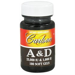 Carlson Laboratories Carlson Labs - Vitamin A & D/25000 IU & 1000 IU - 100 Softgels