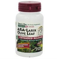 Nature's Plus Herbal Actives ARA-Larix Olive Leaf - 750 mg - 30 Vegetarian Tablets