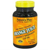 Nature's Plus - Orange Juice Chewable Vitamin C 250 mg. - 90 Chewable Tablets