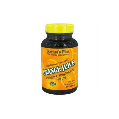 Nature's Plus - Orange Juice Chewable Vitamin C 250 mg. - 90 Chewable Tablets