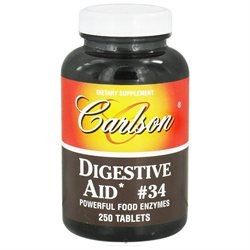 Carlson Laboratories Digestive Aid #34 - 250 Tablets - Enzymes