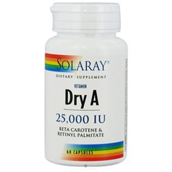 Solaray Dry Vitamin A - 25000 IU - 60 Capsules