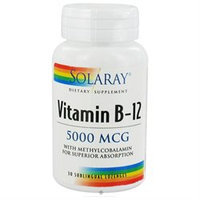 Solaray - Vitamin B-12 5000 mcg. - 30 Lozenges