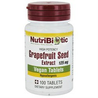NutriBiotic, GSE Grapefruit Seed Extract 125 mg 100 tablets