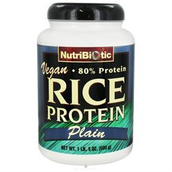 NutriBiotic Rice Protein Powder Vegan Plain - 600 g