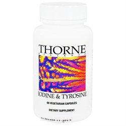 Thorne Research - Iodine & Tyrosine - 60 Vegetarian Capsules