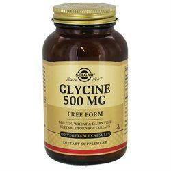 Solgar Glycine - 500 mg - 100 Vegetable Capsules