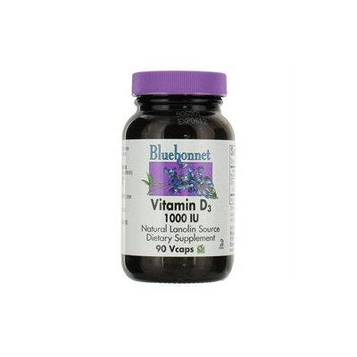 Bluebonnet Nutrition - Vitamin D3 1000 IU - 90 Vegetarian Capsules