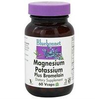 Bluebonnet Nutrition - Magnesium Potassium Plus Bromelain - 60 Vegetarian Capsules