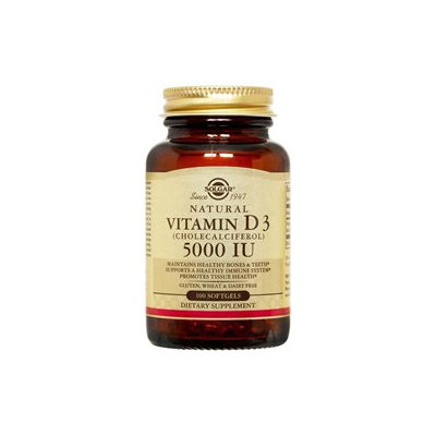 Solgar - Vitamin D3 Cholecalciferol 5000 IU - 100 Softgels