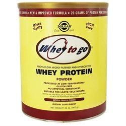 Solgar - Whey To Go Protein Powder Natural Vanilla