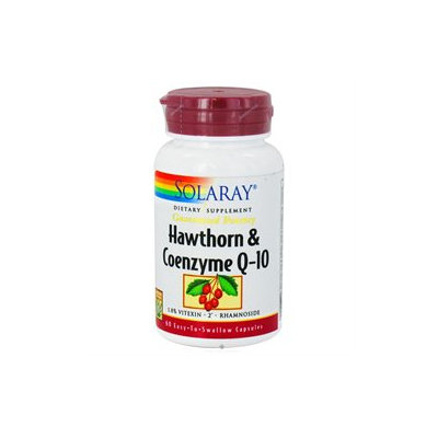 Solaray Hawthorn and Coenzyme Q10 Two Daily - 60 Capsules