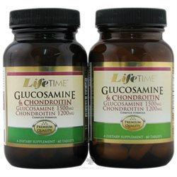 LifeTime Vitamins - Glucosamine 1500 mg & Chondroitin 1200 mg Complex Formula 6060 Twin Pack - 120 Tablets