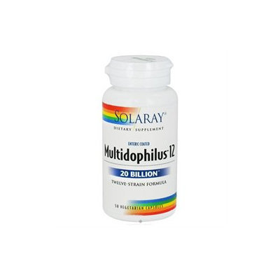 Solaray Multidophilus Freeze Dried - 10 billion microorganisms - 50 Vegetarian Capsules