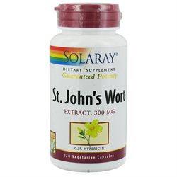 Solaray St. John's Wort - 300 mg - 120 Vegetarian Capsules