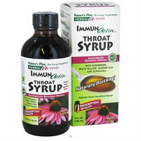 Nature's Plus - Herbal Actives Immunactin Throat Syrup Natural Fruit/Menthol - 4 oz.