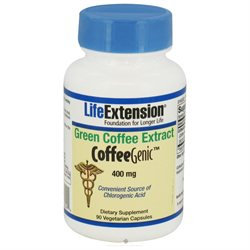 Life Extension Green Coffee Extract 400mg, Veggie Caps