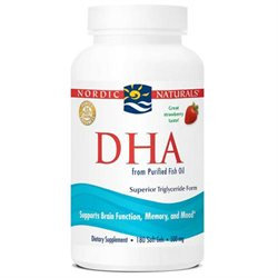 Nordic Naturals DHA Fish Oil 500 mg Softgels, Strawberry