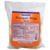NOW Foods - Dried Pineapple Rings - 12 oz.