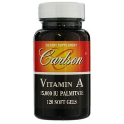 Carlson Laboratories Carlson Labs, Vitamin A Palmitate 15000 IU 120 softgels