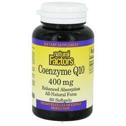 Coenzyme Q10 400 mg, 60 Softgels, Natural Factors