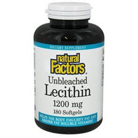 Natural Factors Unbleached Lecithin - 1200 mg - 180 Softgels