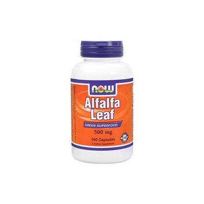 NOW Foods - Alfalfa Leaf Organic Non-GE 500 mg. - 100 Capsules