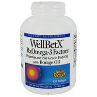 WellBetX RxOmega-3 Factors with Borage Oil 120 Softgels, Natural Factors
