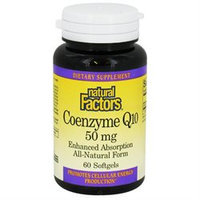 Natural Factors Coenzyme Q10 - 50 mg - 60 Softgels