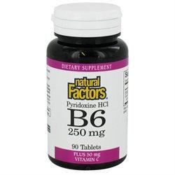 Natural Factors - Vitamin B6 Pyridoxine HCl 250 mg. - 90 Tablets